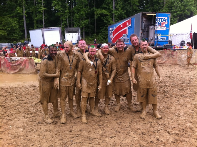 The Band of Brothers finishing the Warrior Dash